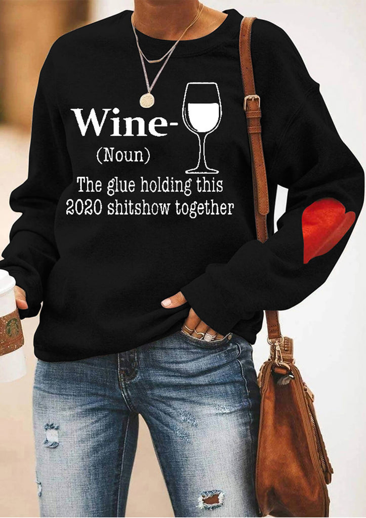 Wine Glass Sweatshirt