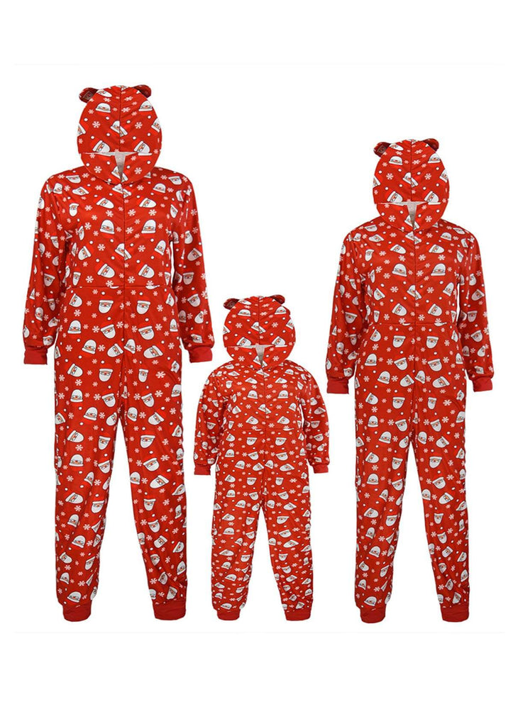 Christmas Hooded One-piece Homewear