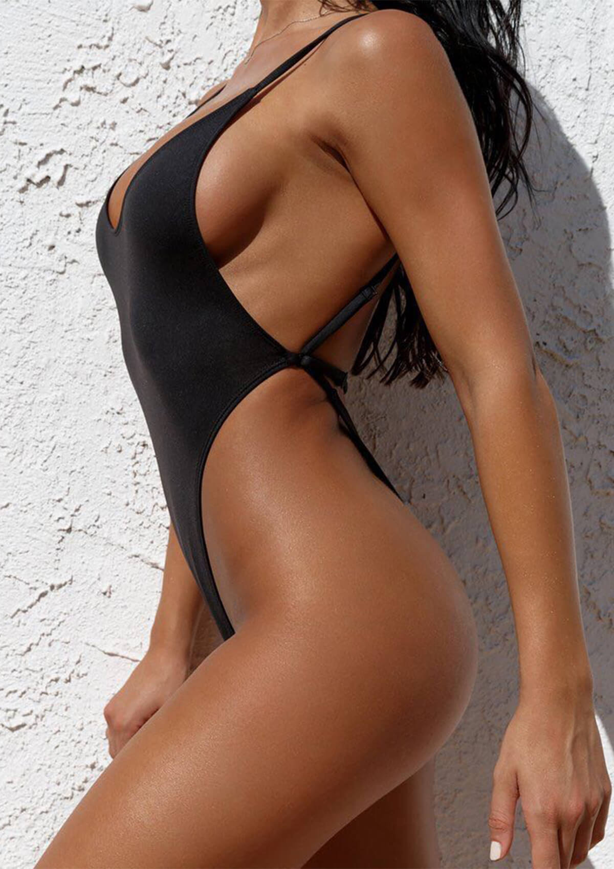 Bandage Hollow Out Swimsuit