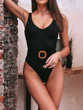 Belt Deco One-piece Swimsuit