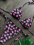 Floral Halter Tie Side Bikini Set