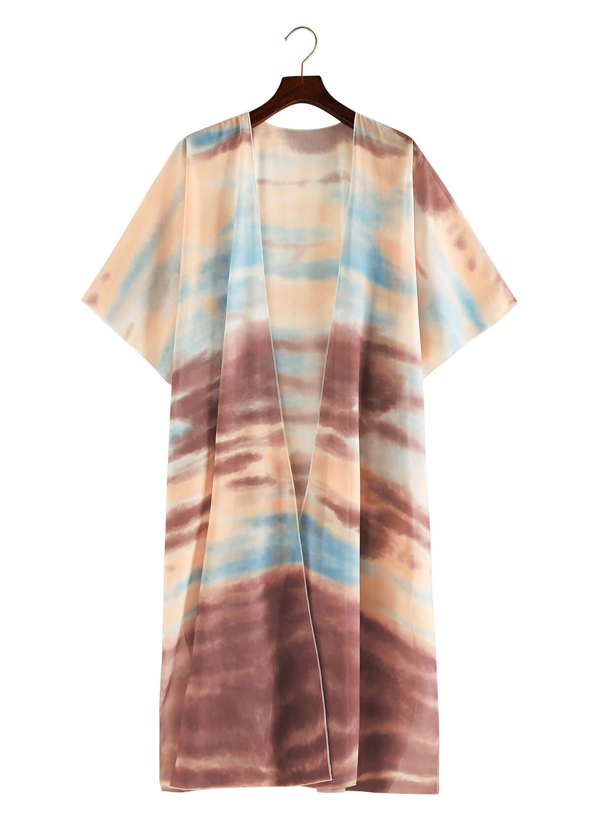 Short Sleeve Tie-dye Cover Up