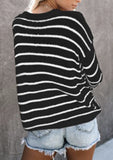 Striped Knitted Pullover Sweater