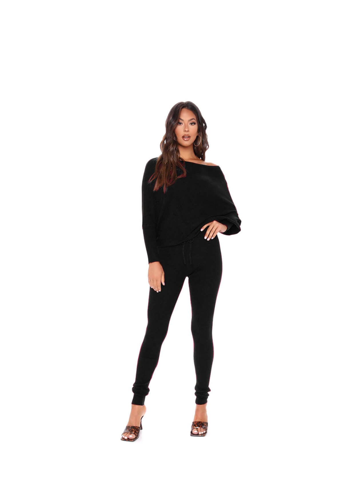 Long Sleeve Top & High Waist Pants Set