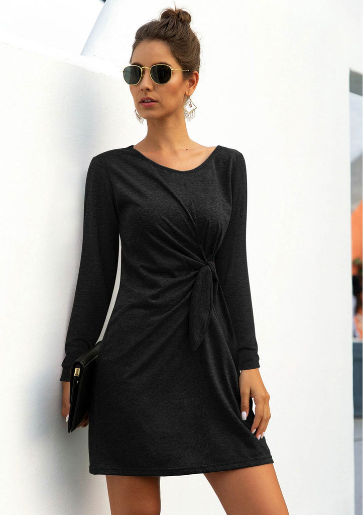 Tie Waist Cotton Dress
