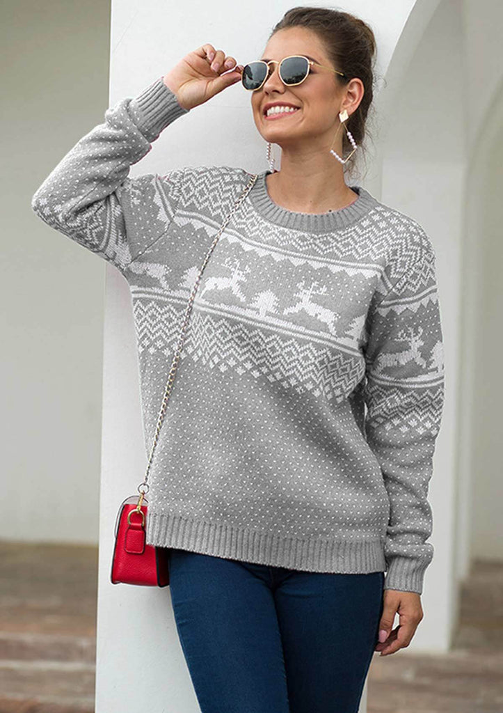 Christmas Fawn Knit Sweater