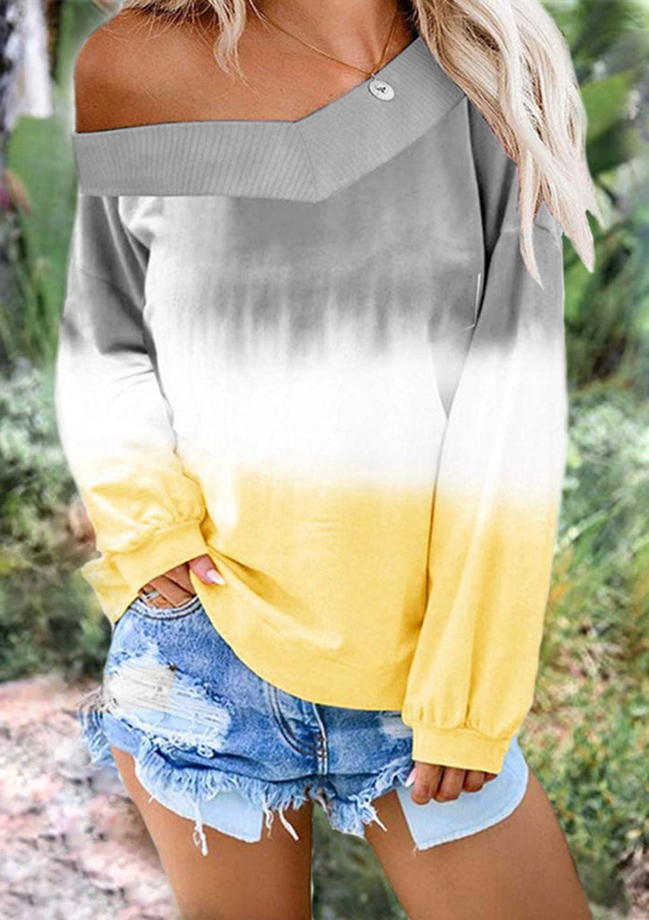 Tie-Dye One Shoulder Sweatshirt