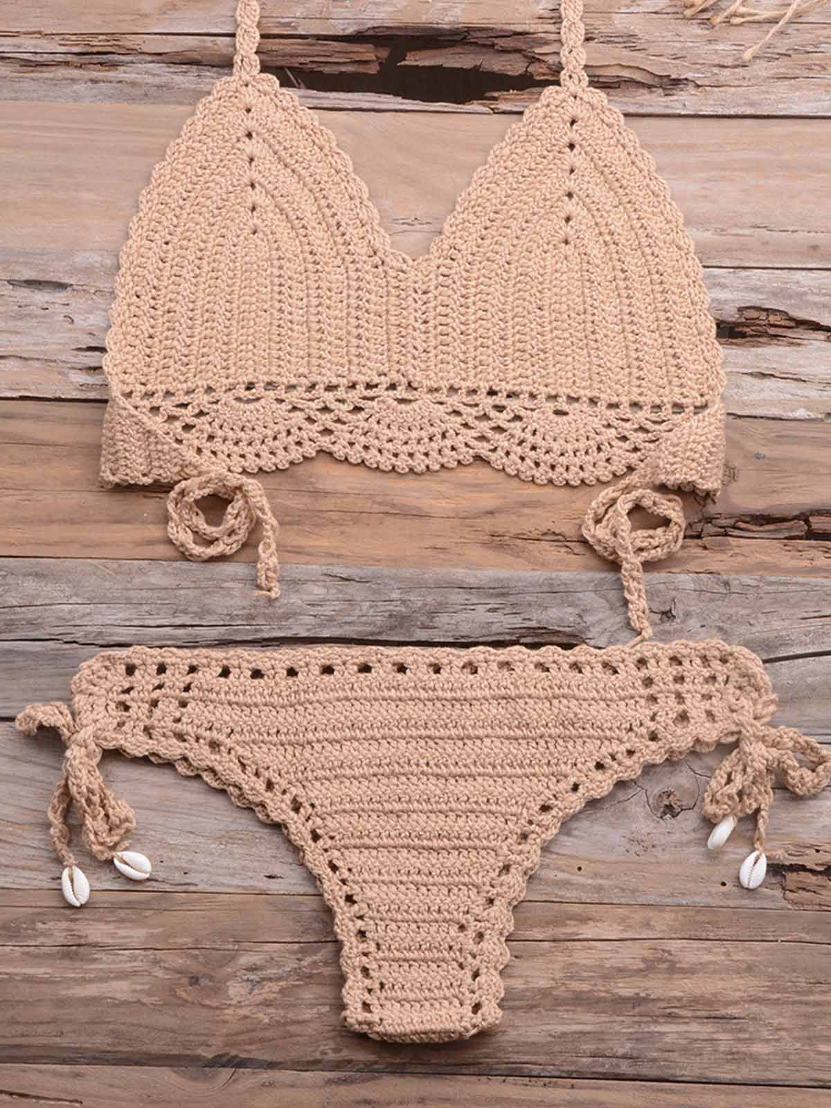 Crochet Hollow Out Bikini Set