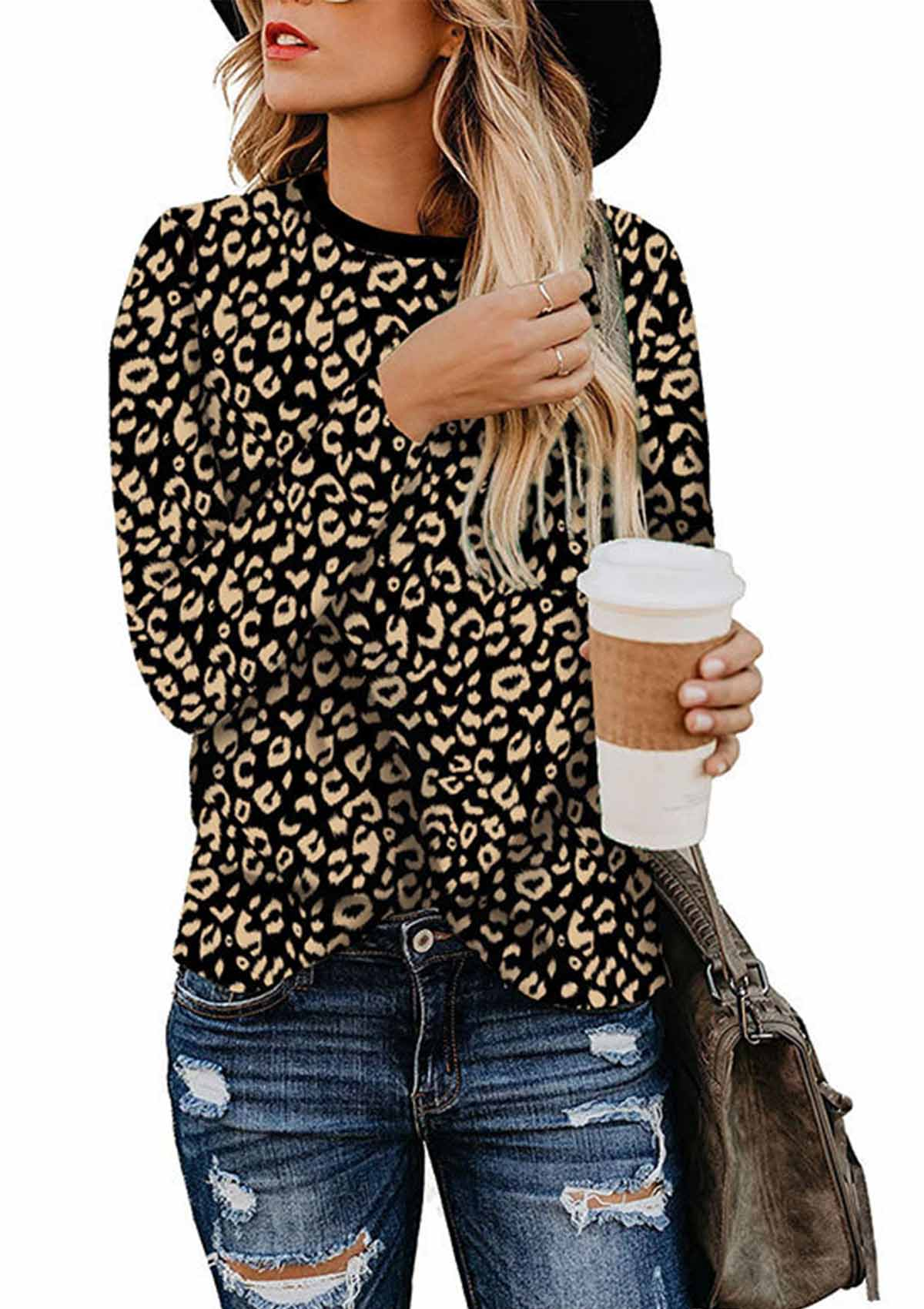 Leopard Print Long Sleeve Shirt