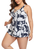 Floral Lace Plus Size Swimsuit