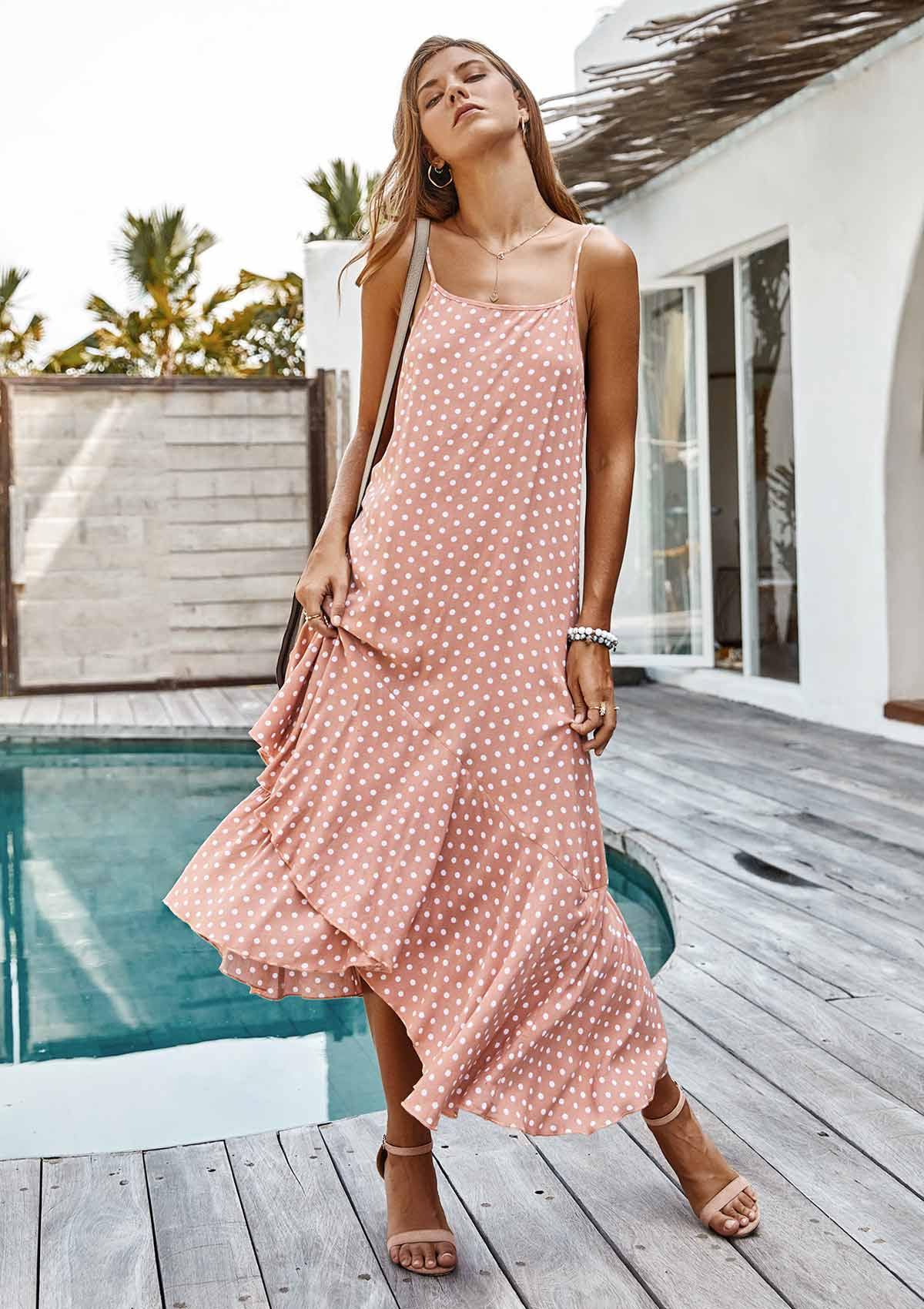 Irregular Polka Dot Boho Dress