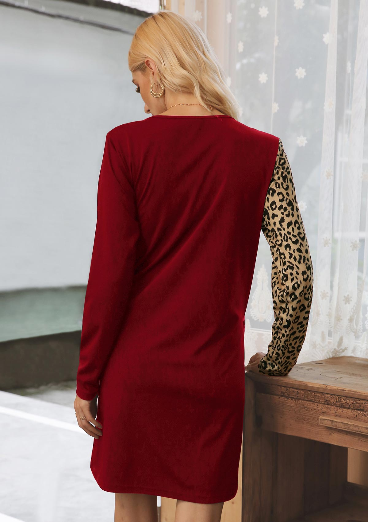 Leopard Knotted Wrap Dress