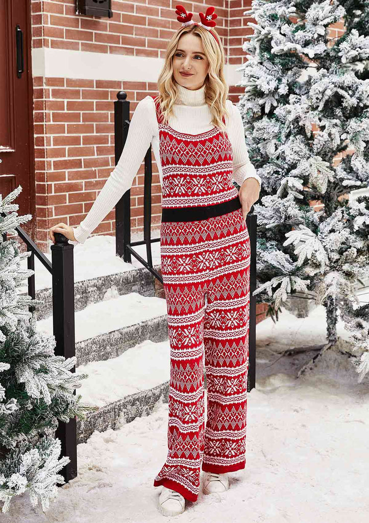 Christmas Snowflake Knit Jumpsuit