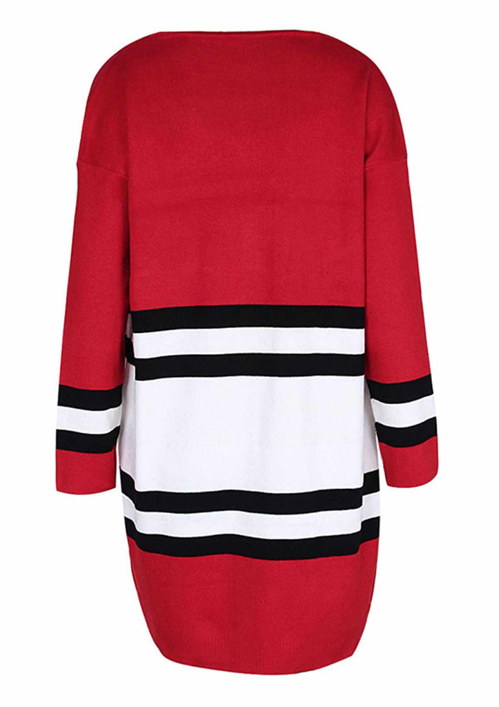 Striped Color Block Lightweight Sweater