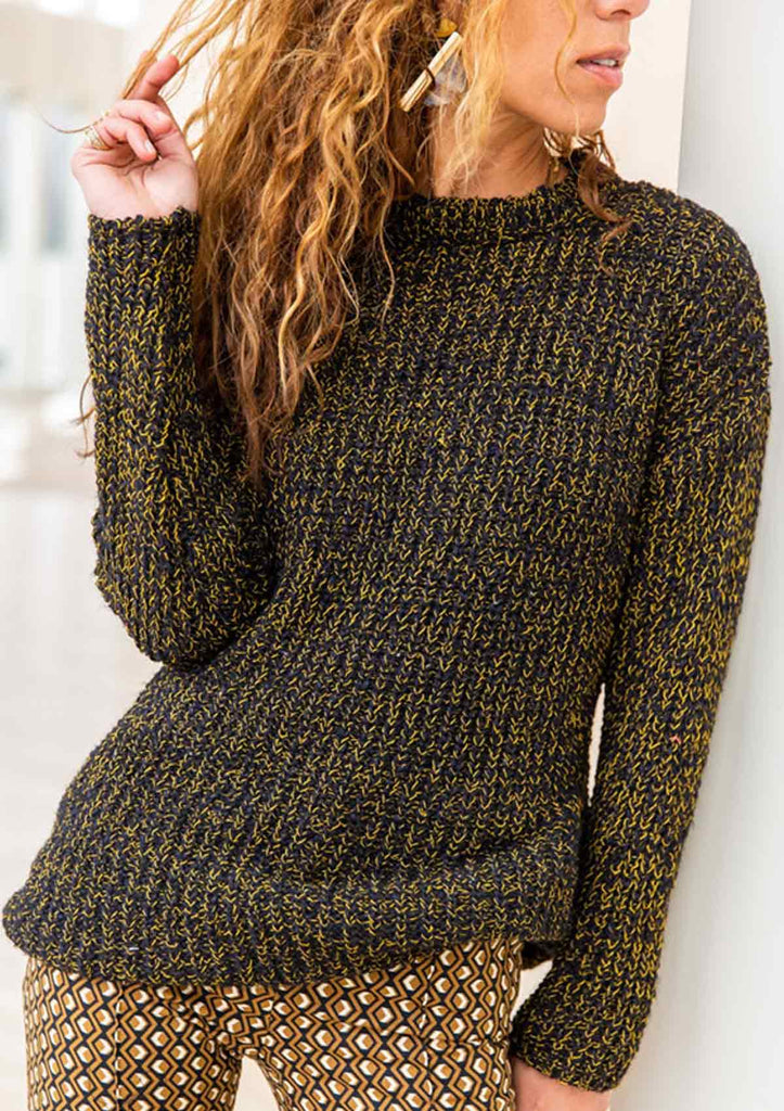 CrewNeck Long Sleeve Knitted Sweater
