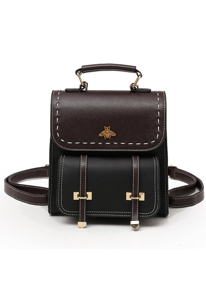 Little Bee Vintage Faux-Leather Backpack