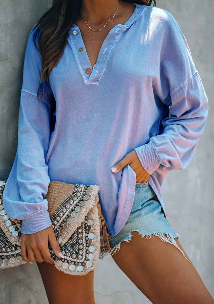 Button Up Tunic Tops