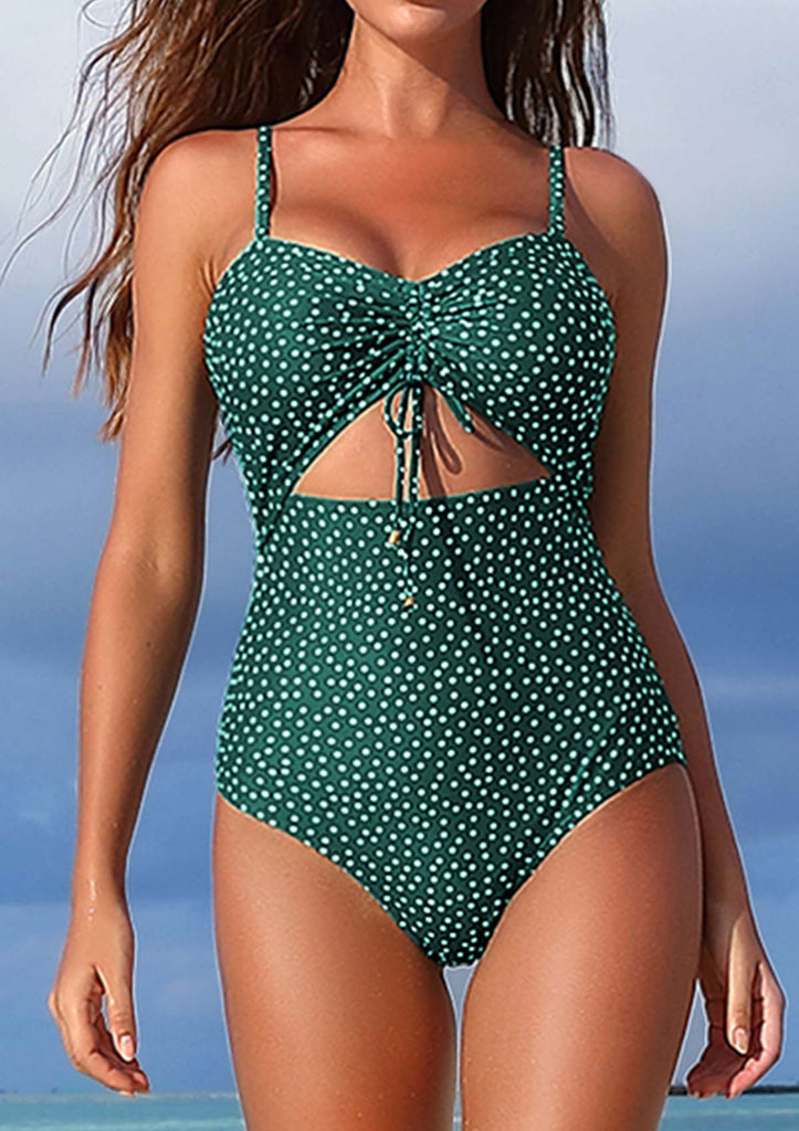 Cut Out Front One Piece Swimsuit