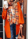 Lantern Sleeve Long Cardigan