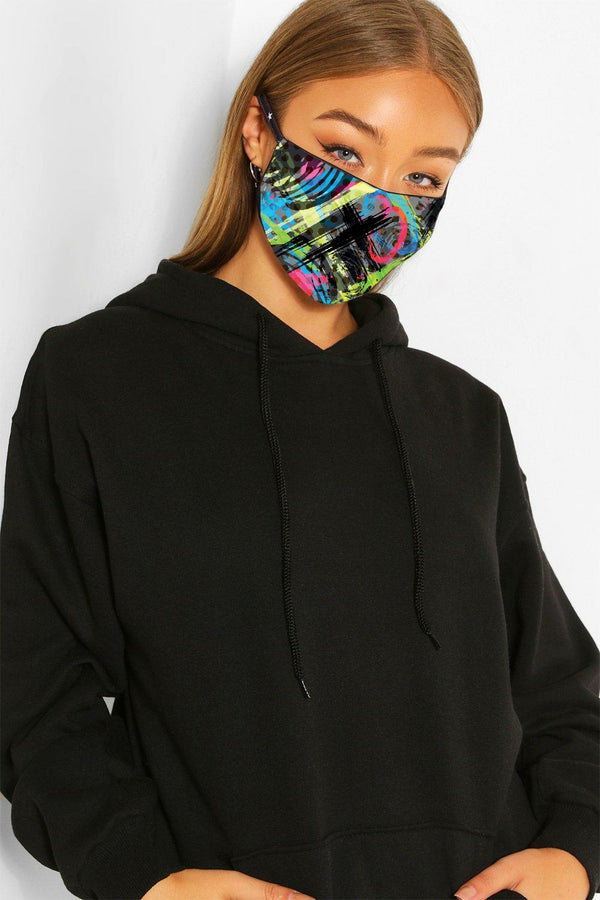 Bright Graffiti - Triple Layer Face Mask
