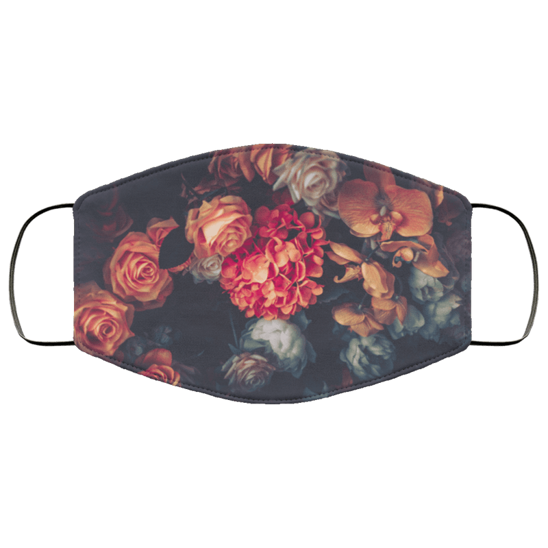 Vintage Flowers - Triple Layer Face Mask