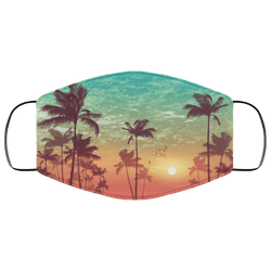 Palm Trees - Triple Layer Face Mask