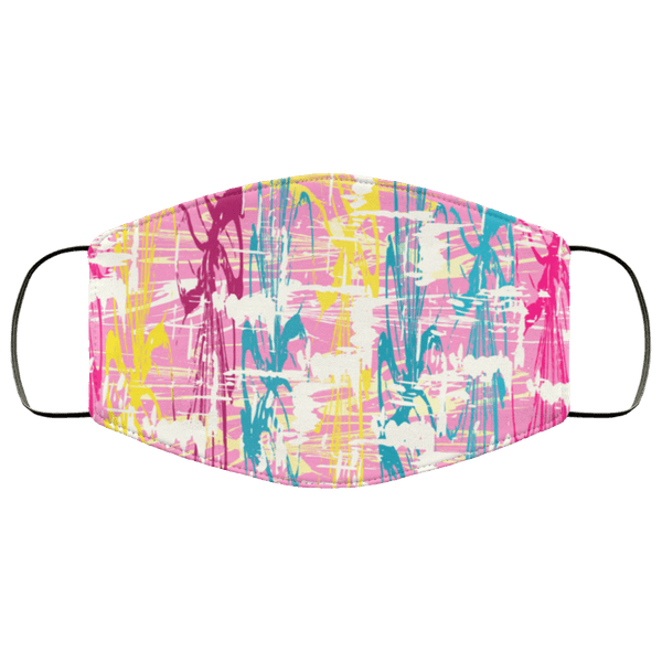 Abstract Graffiti - Triple Layer Face Mask