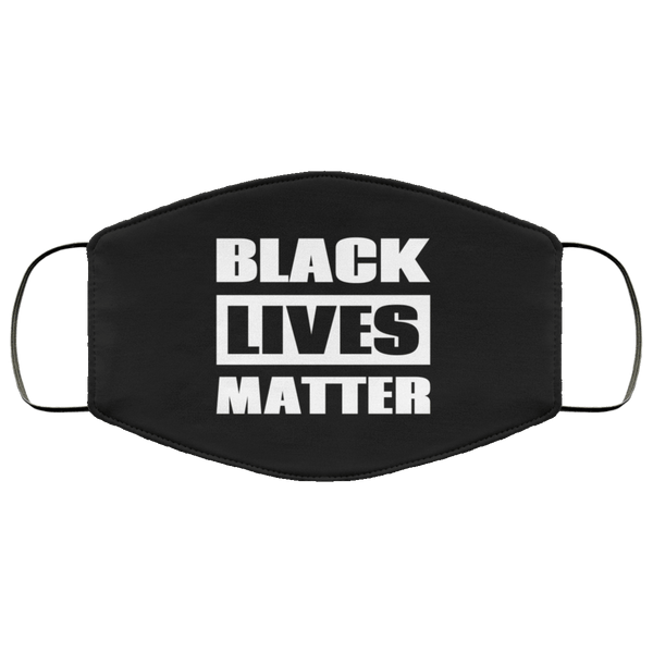 Black Lives Matter Face Mask B&W - Custom Triple Layer Face Mask