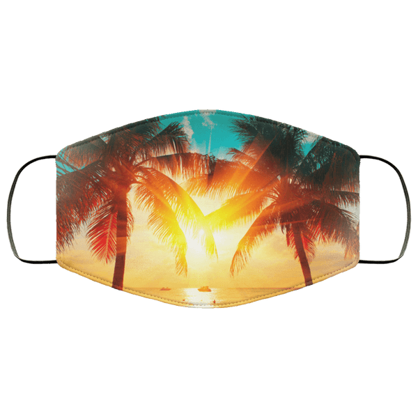 Tropical Sunset - Triple Layer Face Mask