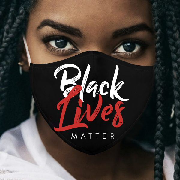 Black Lives Matter Mask - Custom 3 Layer Face Mask