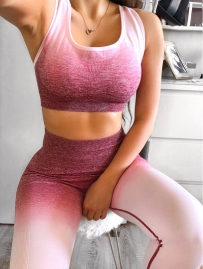 Ombre Workout Set Activewear Set
