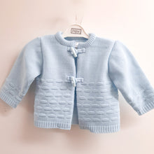 Load image into Gallery viewer, Blue baby cardigan. Pex blue baby cardigan.