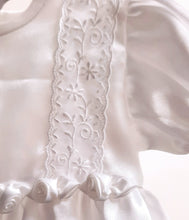 Load image into Gallery viewer, Christening Robe and Bonnet in White, by Visara