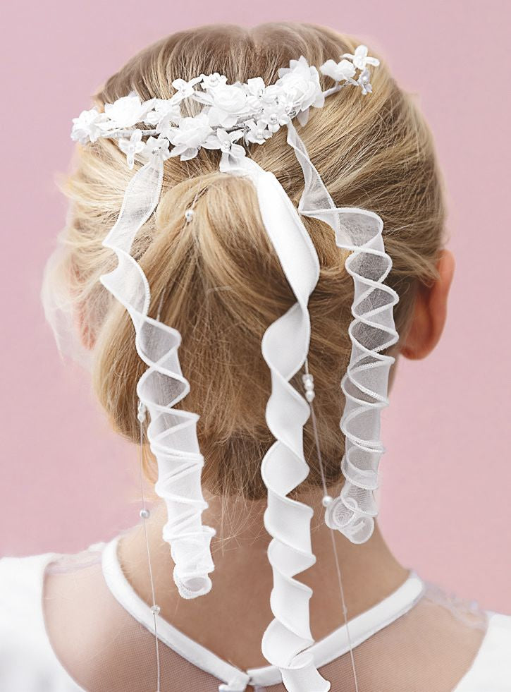 Holy Communion Hair Accessory with Ribbons ,by Emmerling