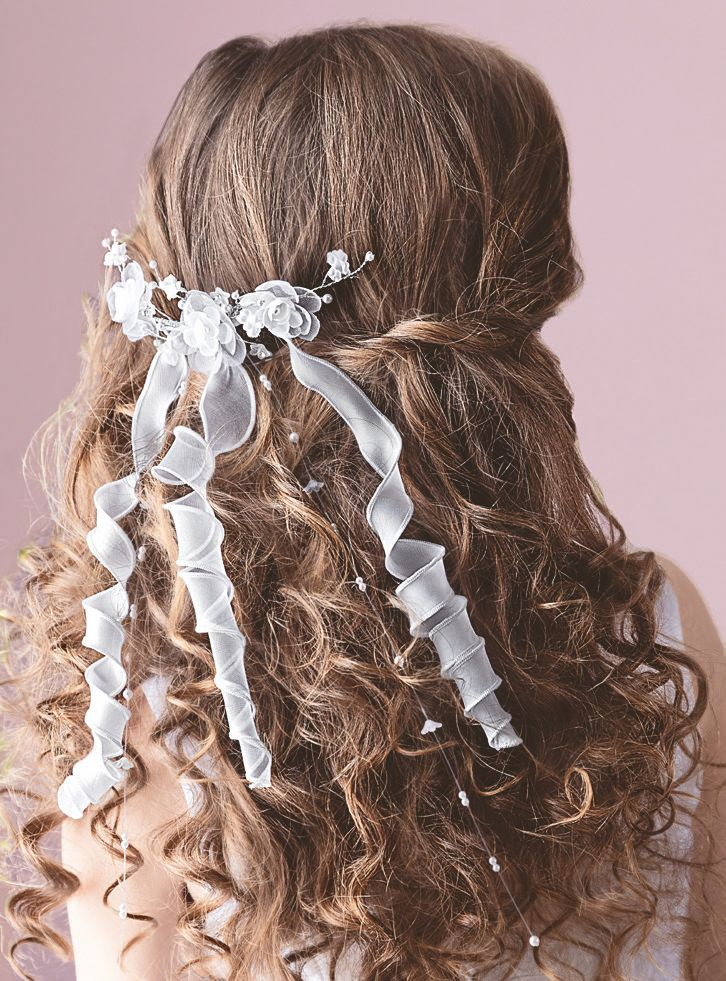 Holy Communion Comb with Flowers and Curly Ribbons,  by Emmerling