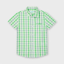 Load image into Gallery viewer, Boys Checked Shirt in Tea Green, by Mayoral