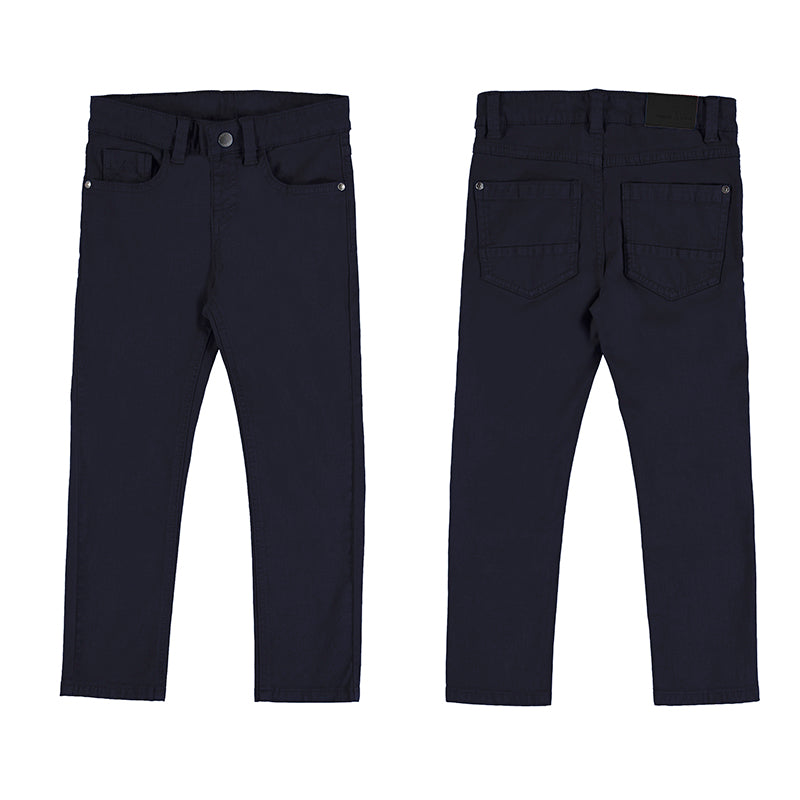 Boy's Trousers in Night Navy by Mayoral