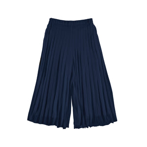 Navy pleated Culottes by Mayoral