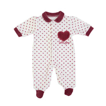 Load image into Gallery viewer, organic cotton mix babygro. Baby onesie in organic cotton mix