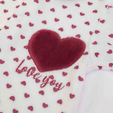Load image into Gallery viewer, SALE Heart print Onesie in Organic Cotton Mix by FS Baby