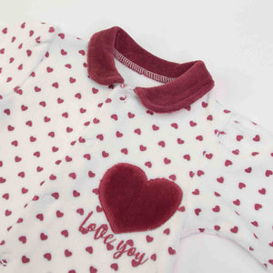 SALE Heart print Onesie in Organic Cotton Mix by FS Baby