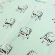 Load image into Gallery viewer, All-over Zebra print onesie in Organic Cotton Mix by FS Baby
