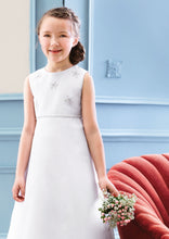 Load image into Gallery viewer, Communion dress 2024 by Pure White. Simple Communion Dress. Empire-line style Communion dress. A-line white Communion Dress.