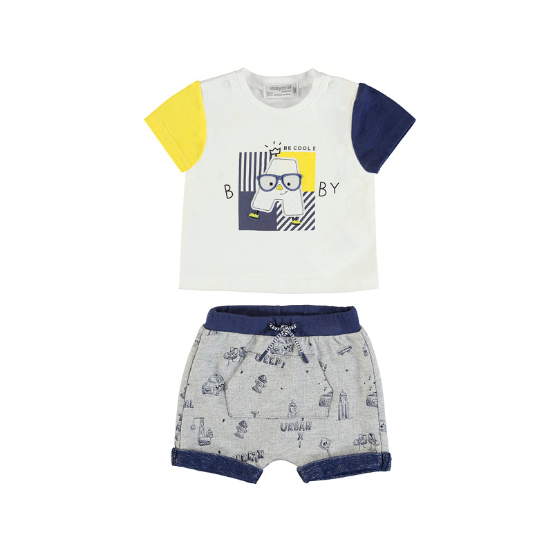 Baby boy top and shorts 2pce by Mayoral
