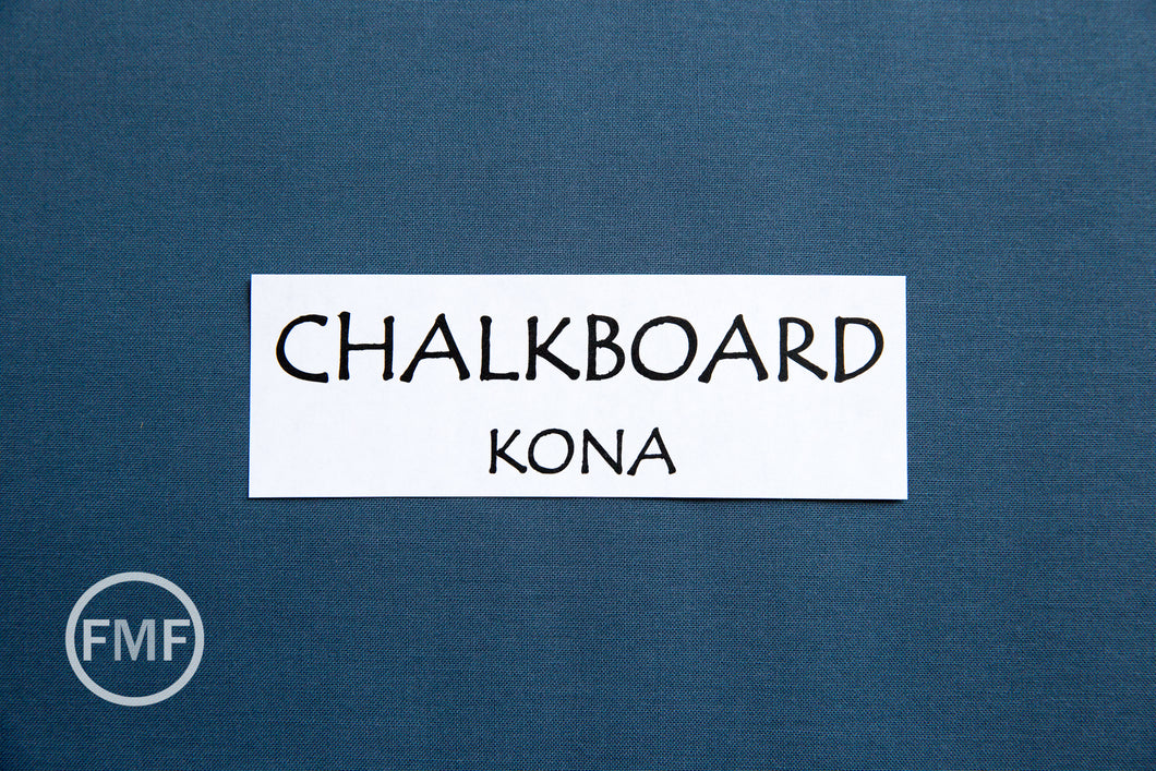 Chalkboard Kona Cotton Solid Fabric from Robert Kaufman, K001-1837