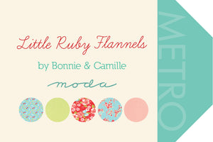 Little Ruby Flannels Layer Cake, Bonnie and Camille, Moda Fabrics, Pre-Cut Fabric Squares, Ten Inch Fabric Squares, 55130LCF