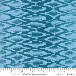 Spellbound Ikat in Turquoise Sky,  Urban Chiks, 100% Cotton, Moda Fabrics, 31116 16