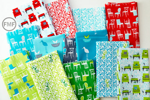 Perfectly Perched Bundle, 13 Pieces, Laurie Wisbrun, 100% Cotton, Robert Kaufman Fabrics, AWN-FULL-13