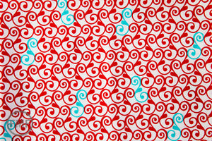 Perfectly Perched Swirl in Celebration, Laurie Wisbrun, Robert Kaufman Fabrics, 100% Cotton Fabric, AWN-12850-203 CELEBRATION