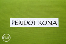 Load image into Gallery viewer, Peridot Kona Cotton Solid Fabric from Robert Kaufman, K001-317